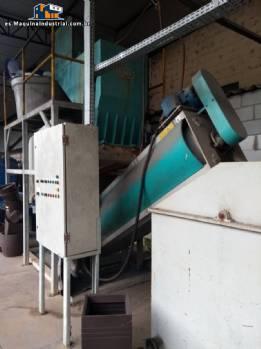 Línea para trituración, lavado y secado de plásticos